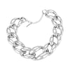 Thick Rhodium Bracelets  | Urban Accessories NYC