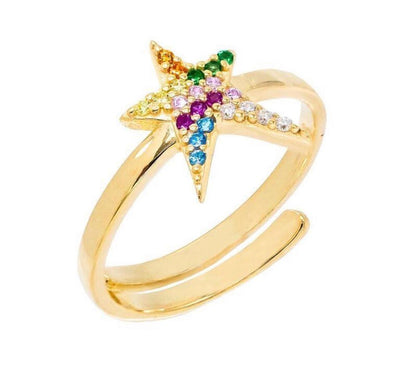 Multi-Color Star Ring  | Urban Accessories NYC