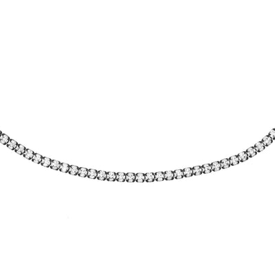 Rhodium Tennis Choker Silver | Urban Accessories NYC