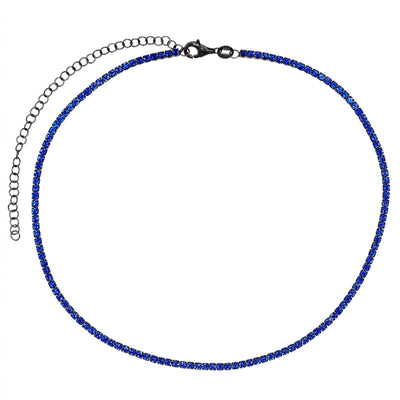 Rhodium Tennis Choker  | Urban Accessories NYC