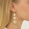 Caesar Coin Huggie Earring  | Urban Accessories NYC