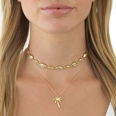 Palm Tree Necklace  | Urban Accessories NYC