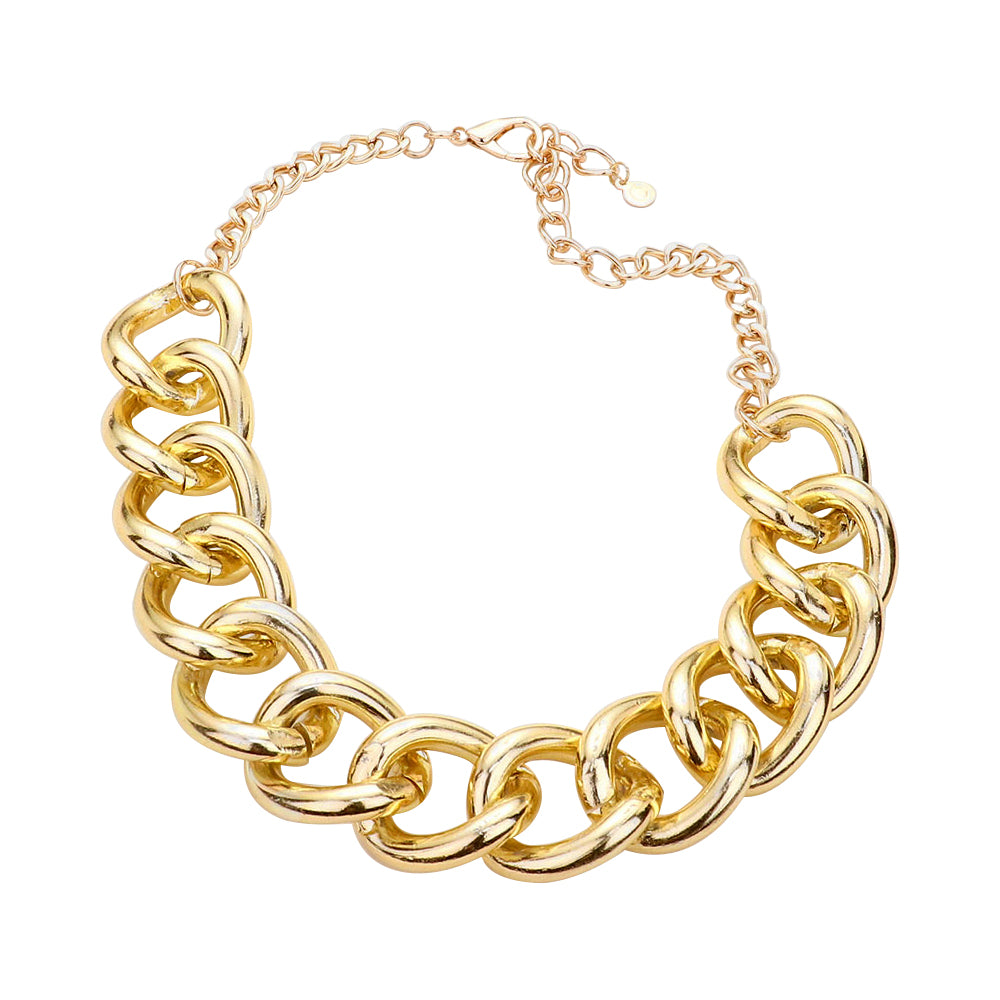 Large Chain Gold Necklace  | Urban Accessories NYC