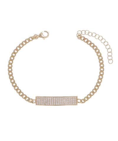 Cuban Link Bar Bracelet Gold | Urban Accessories NYC