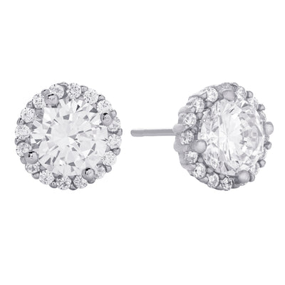 CZ Stud Earring Silver | Urban Accessories NYC