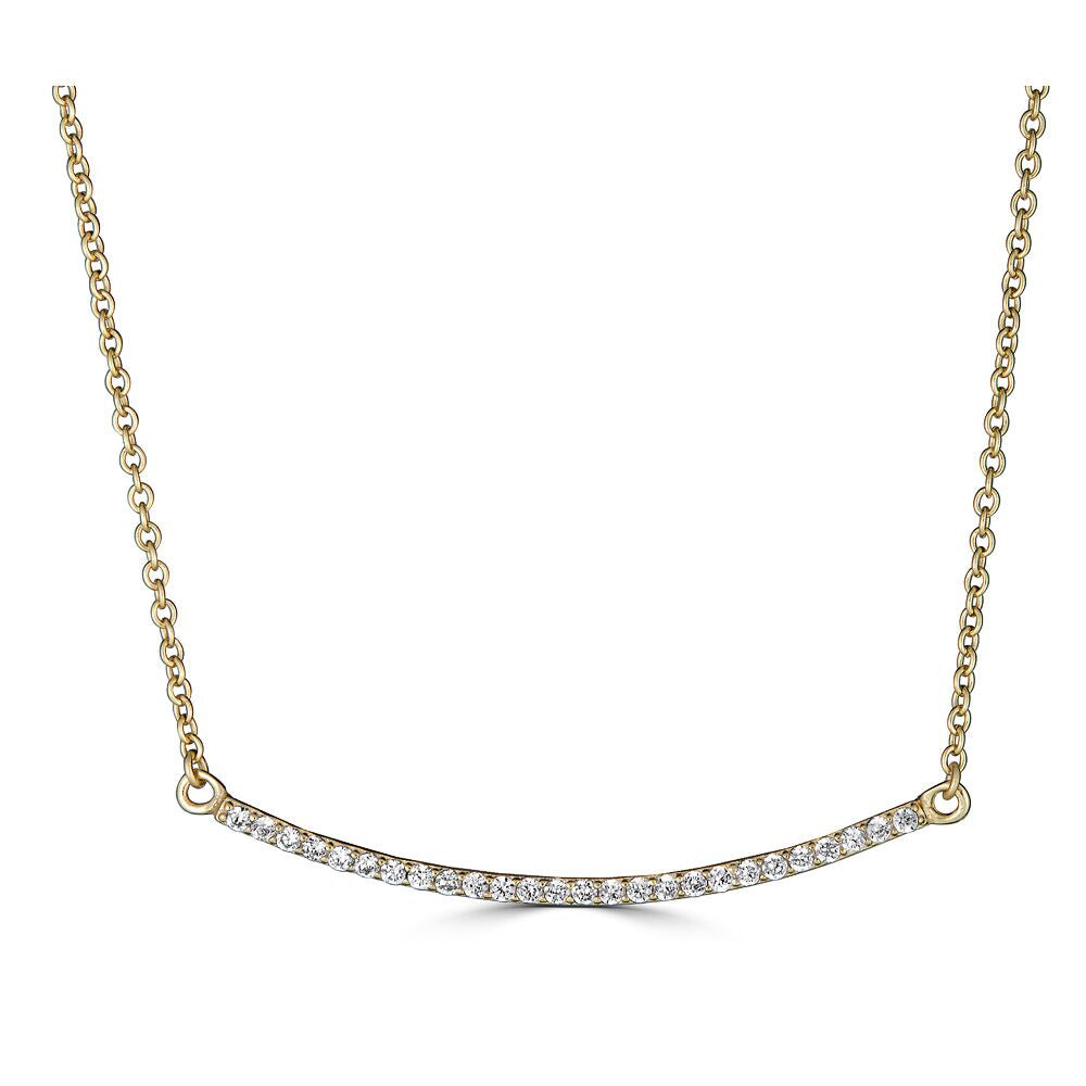 Pavé Bar Necklace Gold | Urban Accessories NYC