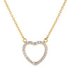 Open Heart Necklace  | Urban Accessories NYC