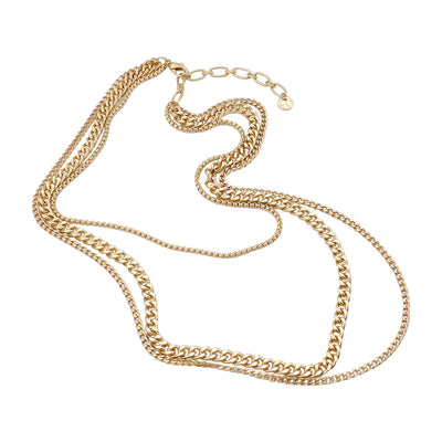 Triple Chains Layered Necklace  | Urban Accessories NYC