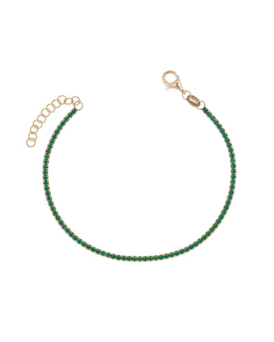 Tennis Bracelet Green | Urban Accessories NYC