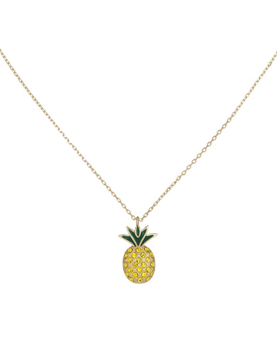 Pineapple Pendant Necklace Gold | Urban Accessories NYC