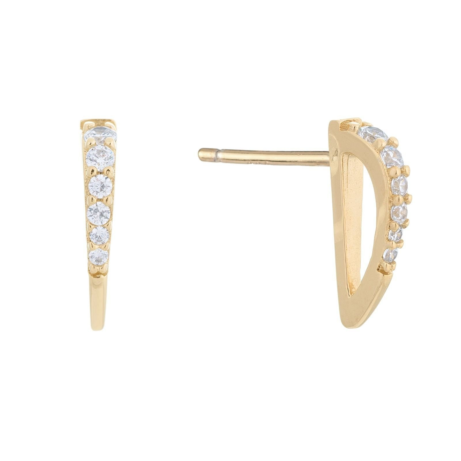 Asymmetrical Stud Earring Gold | Urban Accessories NYC