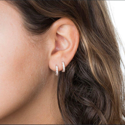 CZ Mini Huggie Earring  | Urban Accessories NYC
