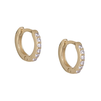 CZ Mini Huggie Earring GOLD | Urban Accessories NYC