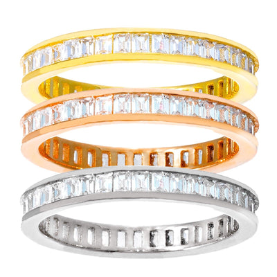 Baguette Stackable Ring Set 6 | Urban Accessories NYC