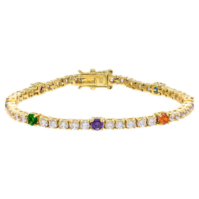 Multi-Color Tennis Bracelet  | Urban Accessories NYC