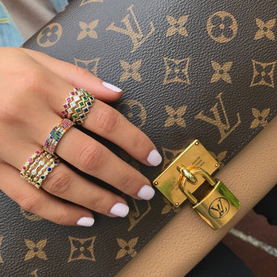 Stackable Multi-Color Midi Ring Set  | Urban Accessories NYC