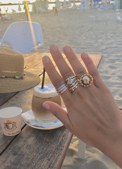 Baguette Stackable Ring Set  | Urban Accessories NYC