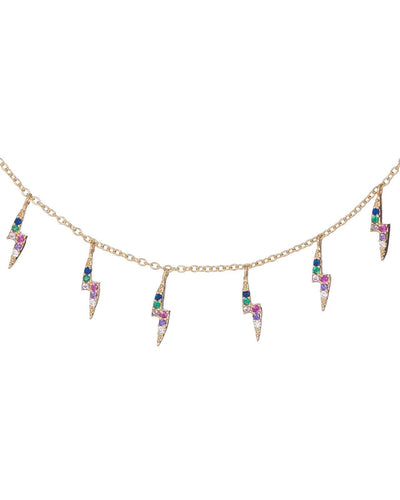 Rainbow Lightning Bolt Necklace  | Urban Accessories NYC