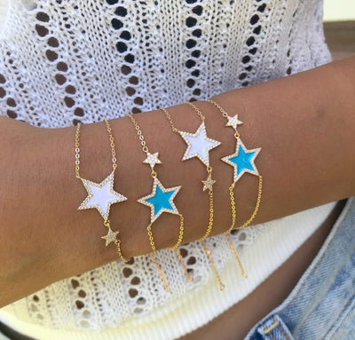 Enamel Star Bracelet  | Urban Accessories NYC