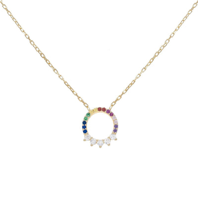 Rainbow Ring Necklace  | Urban Accessories NYC