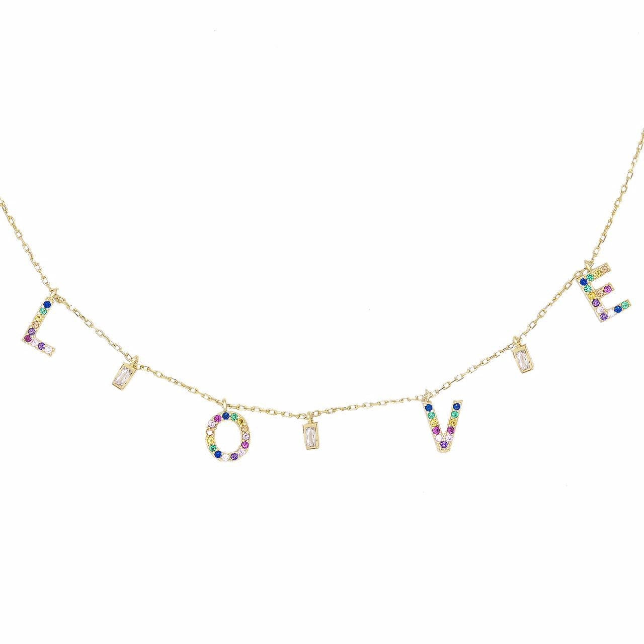 Rainbow Love Necklace  | Urban Accessories NYC