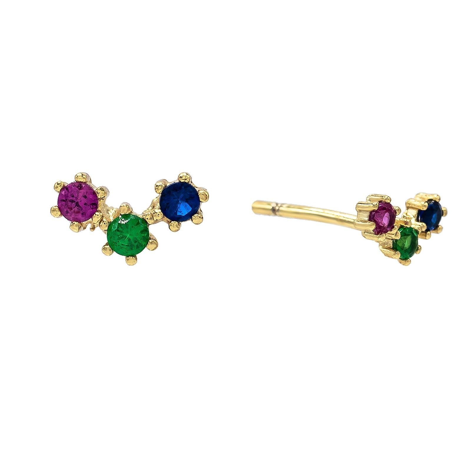 Multi-Color Stud Earring  | Urban Accessories NYC