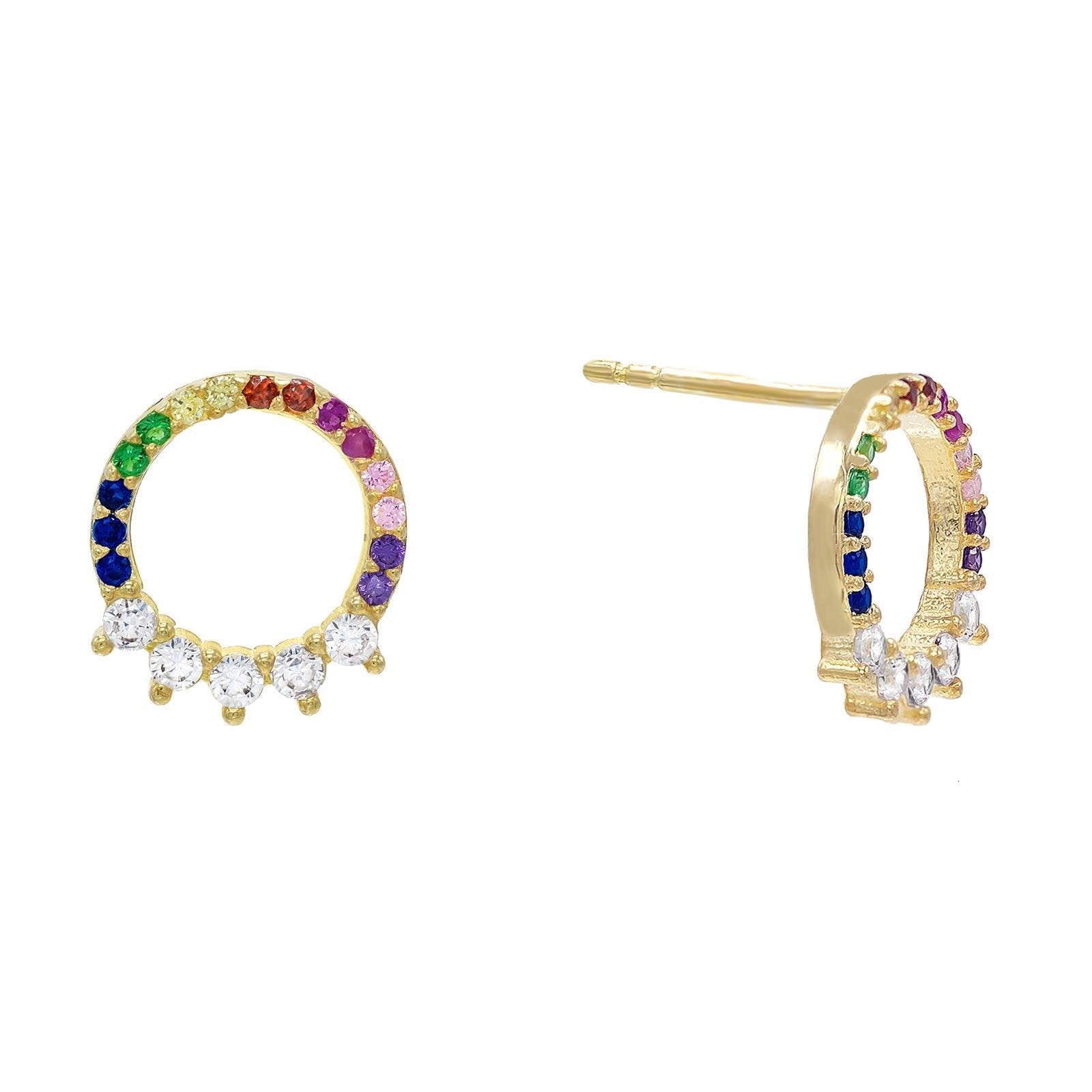 Rainbow Ring Stud Earring  | Urban Accessories NYC
