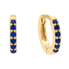 CZ Mini Huggie Earring SAPPHIRE BLUE | Urban Accessories NYC
