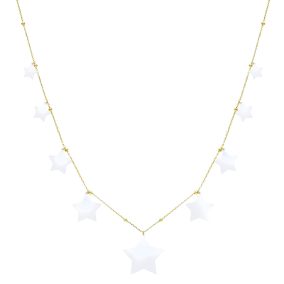 Enamel Star Necklace  | Urban Accessories NYC