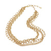 Triple Chains Gold Necklace  | Urban Accessories NYC