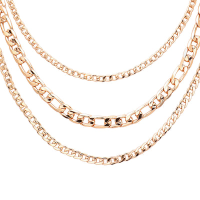 Triple Chains Gold Necklaces  | Urban Accessories NYC