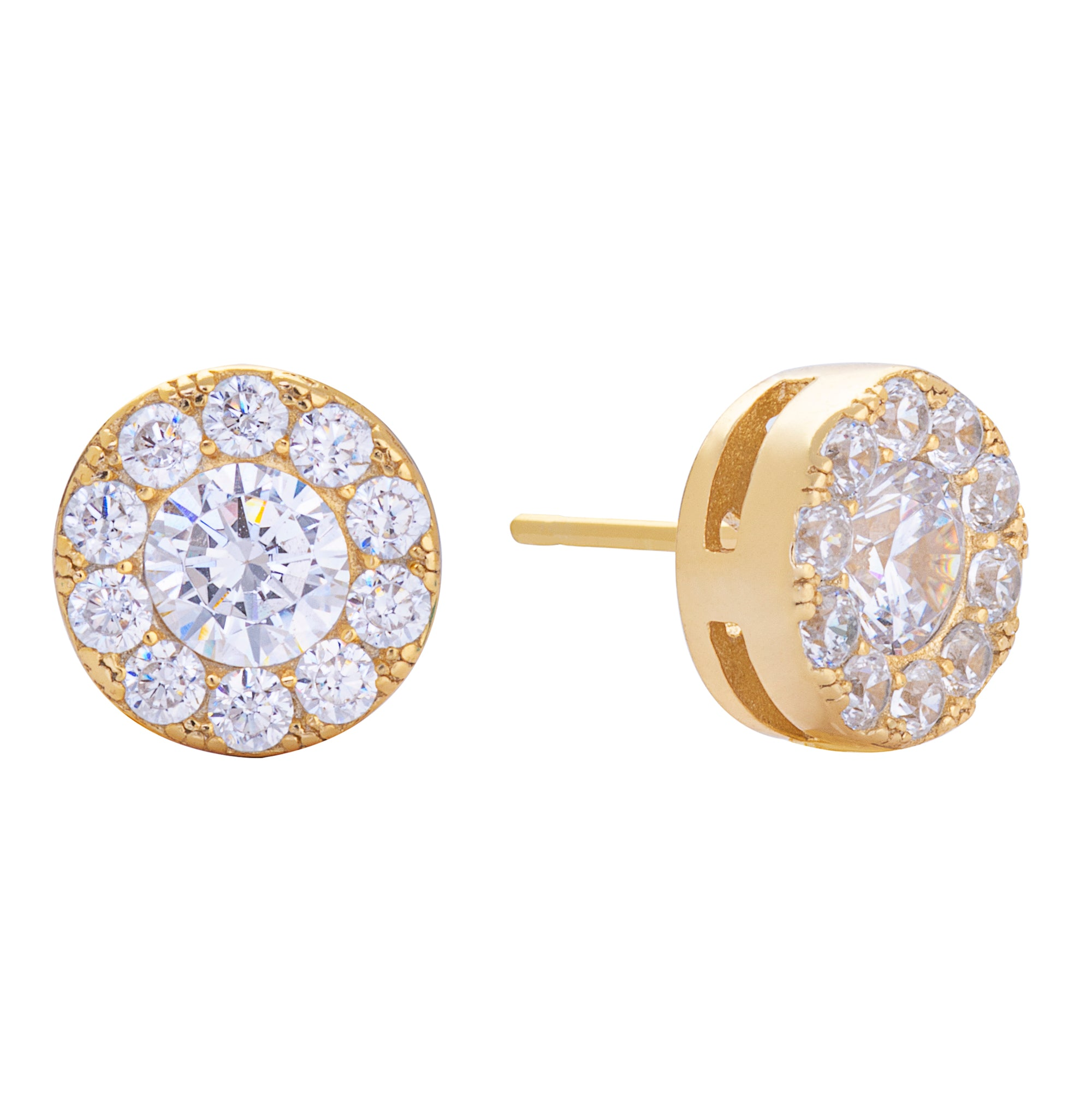 Pavé Stud Earring Gold | Urban Accessories NYC