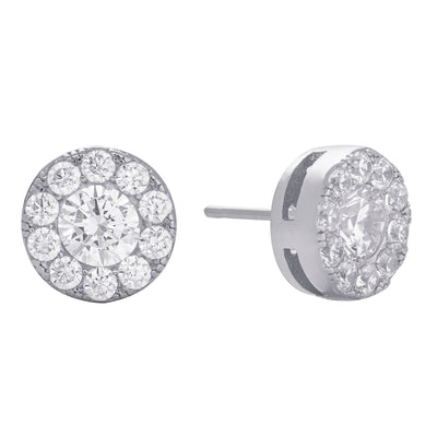 Pavé Stud Earring Silver | Urban Accessories NYC