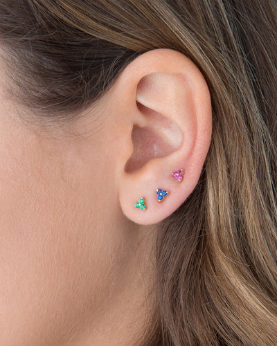 Colored Cluster Stud Earring Pink | Urban Accessories NYC