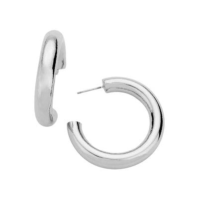 thick lightweight hoop earrings  | Urban Accessories NYC