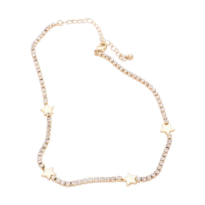 Star Choker Necklace Gold  | Urban Accessories NYC