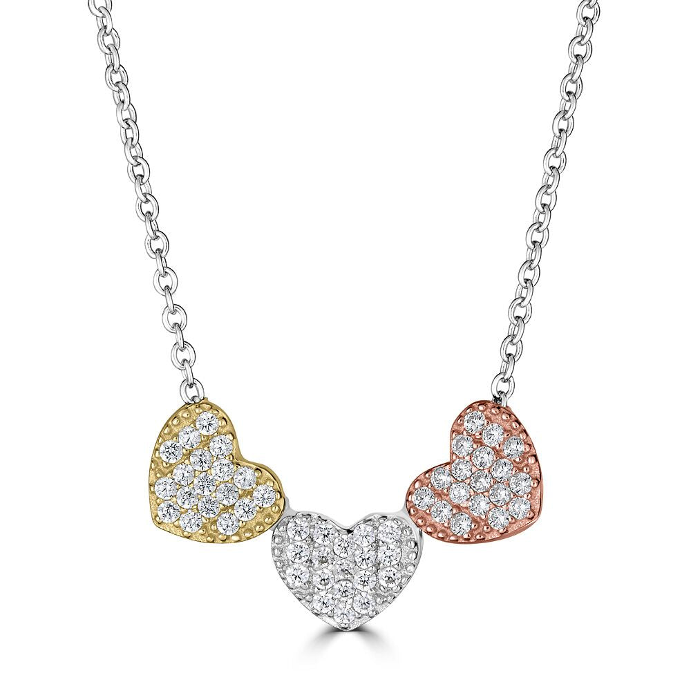 Triple Heart Necklace  | Urban Accessories NYC