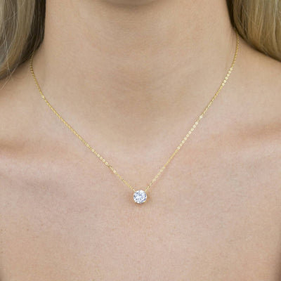 Round Solitaire Necklace  | Urban Accessories NYC