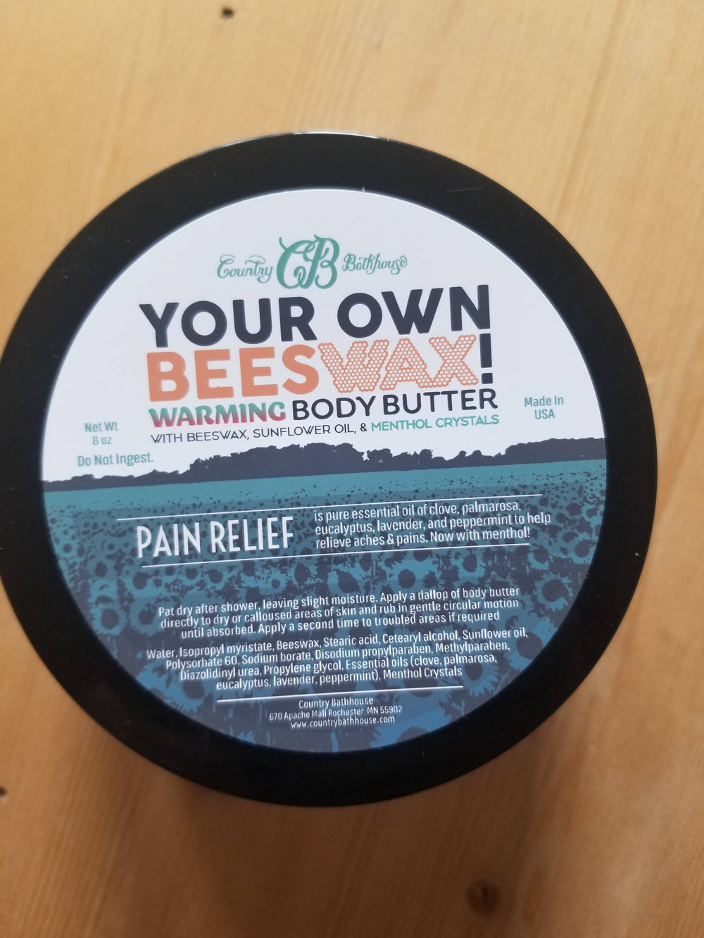 Pain Relief Butter
