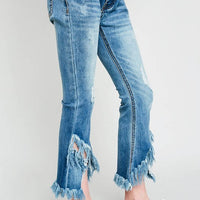 Ripped Bottom Jean