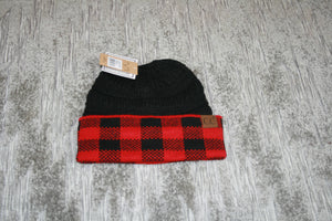 Buffalo Plaid CC Beanie