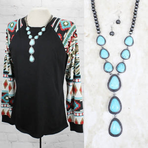 Tipsy Turquoise Necklace