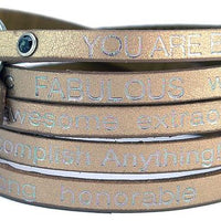 GW You Are Beautiful Wrap Bracelet-Nevada Bronze