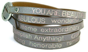 GW You Are Beautiful Wrap Bracelet-Nevada Dark Grey