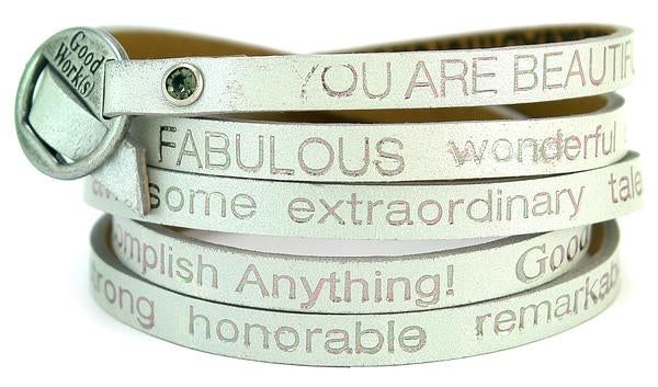 GW You Are Beautiful Wrap Bracelet-Nevada Silver