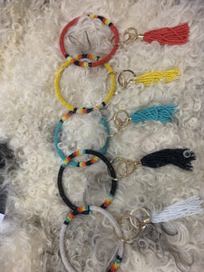 Beaded Big O Key Rings