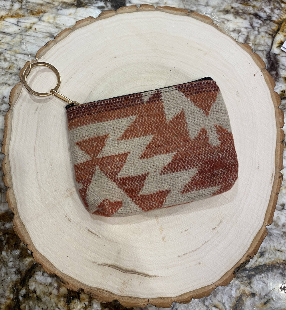 Red Aztec Coin Purse