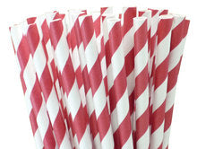 "10.5"" Tall Striped Paper Straws"