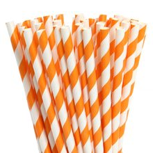 "5.5"" Striped Paper Cocktail Straws"