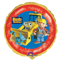 Foil Round Bob The Builder & Pilchard Balloon | 18""